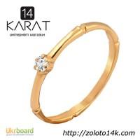 Золотое кольцо с бриллиантом 0, 05 карат 16, 5 мм. НОВОЕ (Код: 17135) Есть и другие модели