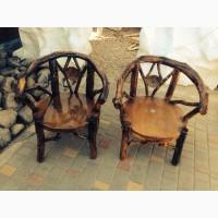 Деревянная мебель из веток и корней. Мебель ротанг