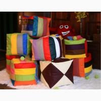 Разноцветные пуфи из кожзама недорого