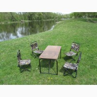 Стол раскладной со стульчиками для пикника в чехле