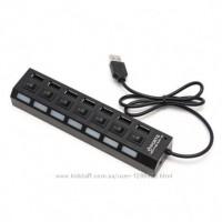 USB HUB с доп питанием 7 портов + отключение каждого порта