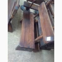 Лавка деревянная сосновая б/у для кафе