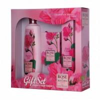 Подарочный набор для женщин Rose of Bulgaria (гель, мыло, крем для рук)