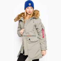 Жіноча куртка Altitude W Parka Alpha Industries (північно-зелений)