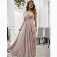 Лиловое вечернее платье с блеском