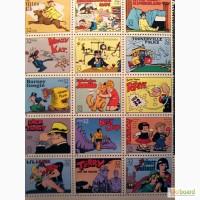 Марки США, комиксы 30-х