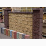 Блок декоративный колотый, для забора, фасада, шлакоблок бетонный заборный
