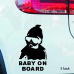 Наклейка на авто Ребенок в машине Baby on board светоотражающая
