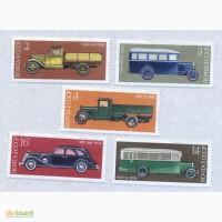 Почтовые марки СССР 1974. 5 марок История отечественного автомобилестроения