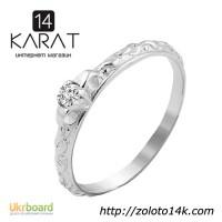 Золотое кольцо с бриллиантом 0, 05 карат 16 мм. НОВОЕ (Код: 17136) Есть и другие модели