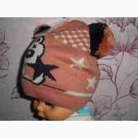 Продам детскую осеннюю шапку для девочки