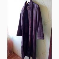 Продам плащ кожаный коричневого цвета, размер 48-50
