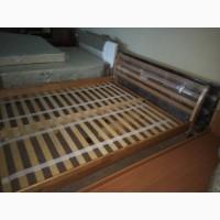 Деревянная кровать Франкфурт, двуспальная кровать, ліжко, ліжко з дерева на ламеляx