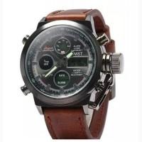 Кварцевые часы Amst watch (Черные, коричневые, серебристый)