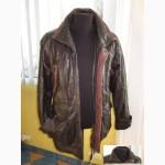 Утеплённая кожаная мужская куртка. 52/54. Echtes Leder. Лот 316
