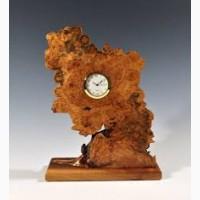 Авторские настольные часы из капа дерева. Под заказ до 10 дней