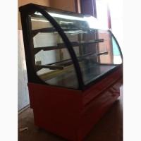 Холодильная витрина кондитерская б/у длина 1.4 метра
