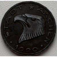 Германия 50 пфеннигов 1920 год AACHEN! СОХРАН!! РЕДКОСТЬ