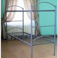 Кровать металлическая двухъярусная, спинка метал 190х80