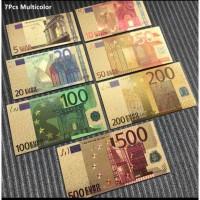 Сувенирные банкноты 500, 200, 100, 50, 20, 10 и 5 евро