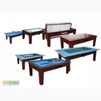 Игровой стол Торнадо, 6 опций в одном столе, коричневый
