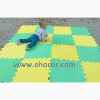Мягкий пол в детскую комнату. Детские коврики-пазлы.Напольное покрытие