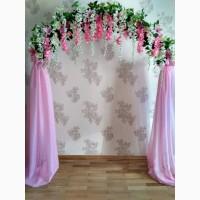 Весільні арки, чохли на стільці, банти