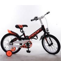 Велосипед детский PROF1 18д. W18115-4 Original, черный, крылья, звонок, доп.колеса