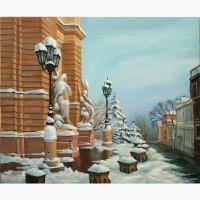 Купить картину маслом в Одессе Оперный театр 60х50см
