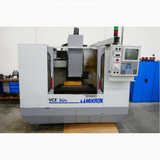 Вертикальный-обрабатывающий центр MIKRON HAAS VCE 500 X/Y/Z 500 x 400 x 500 Mach4metal