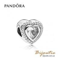 PANDORA шарм ― сияющая любовь #797608CZ