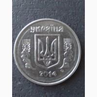 Продам монету України 5 коп.2014р. з браком на аверсі