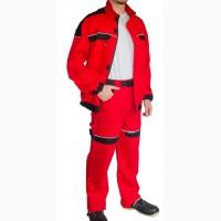 Куртка рабочая с брюками красно-черная Trend