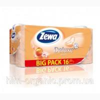Zewa Deluxe Персик бумага туалетная 3-х слойная, 16 шт
