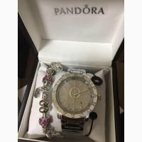 СКИДКА 20%Стильные Женские Часы+браслет Pandora