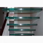 Перила и ступени для лестницы из стекла