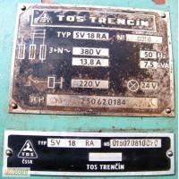 Токарно-винторезный TOS SV18RA, рмц 1000мм