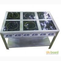 Плита индукционная промышленная шестиконфорочная 6х3кВт 18 кВт