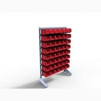 Контейнеры пластиковые и стеллажи под интрументы на производство и цех