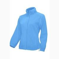 Флисовая курточка женская на молнии светло-голубая