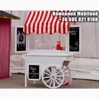 Торговая тележка Candy Bar для сладкой ваты и других товаров для ТРЦ