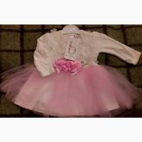 Детское нарядное платье для девочек, Турция, рост 74-86 см в двух цветах
