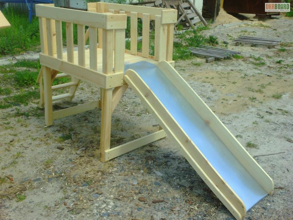 Как построить детскую деревянную горку своими руками 43