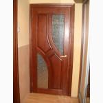Деревяні двері з масиву сосни по ескізу замовника
