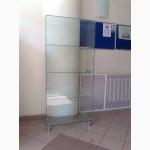 Стеклянная витрина бескаркасная сборка на УФ клее, Одесса.