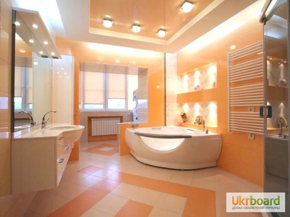 Фото дизайна потолка в ванной комнате